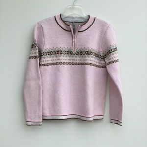 Hanna Andersson Knit Pullover Sweater Pink Small